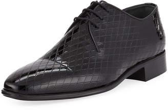 Maceoo Los Angeles Diamond-Embossed Dress Shoes