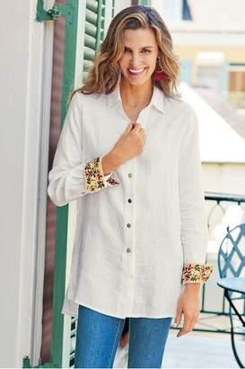 Soft Surroundings Flora Blanco Shirt