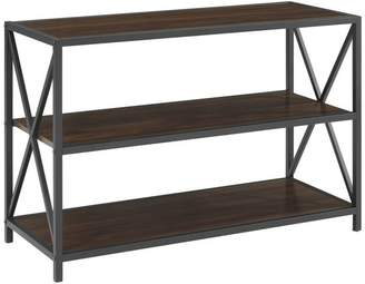 Walker Edison Furniture Company 40 X-Frame Metal and Wood Media Bookshelf