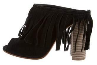 Casadei Fringe Slide Sandals w/ Tags