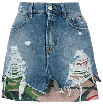 Circus Hotel ripped effect skirt