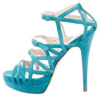 Burak Uyan Platform Suede Sandals