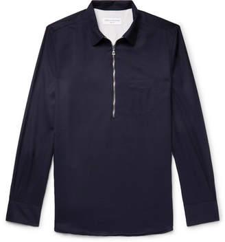 Officine Generale Wool-Twill Half-Zip Overshirt