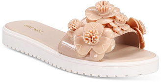 Nine West Relly Embellished Slide Sandals $39 thestylecure.com