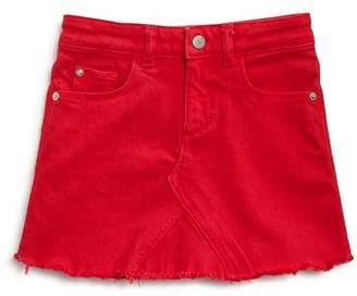 DL1961 Girls' Frayed Denim Skirt - Little Kid