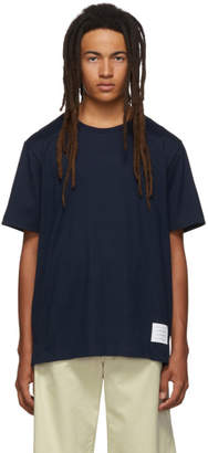 Thom Browne Navy Side Slit Relaxed Fit T-Shirt