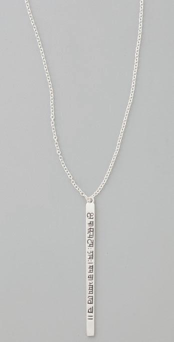 Me&ro Long Sanskrit Pendant Necklace