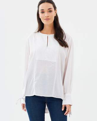 French Connection Lotus Flower Top