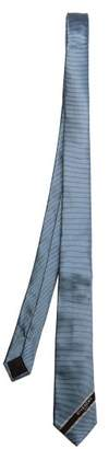 Givenchy Go Faster Logo Motif Twill Tie - Mens - Blue White