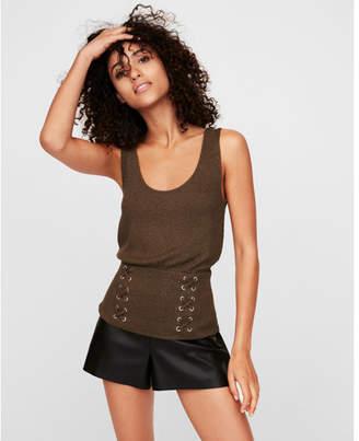 Express corset front scoop neck tank