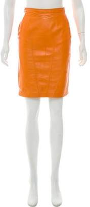Loewe Leather Pencil Skirt