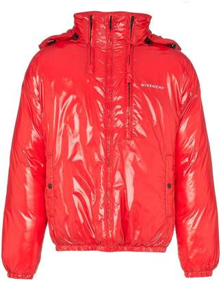 Givenchy high shine hooded puffer jacket