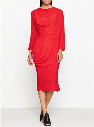 Vivienne Westwood New Fond Draped Dress - Red
