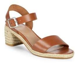 Jute Heel Leather Sandals