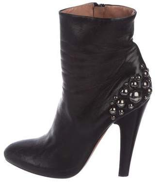 Alaia Leather Studded Ankle Boots