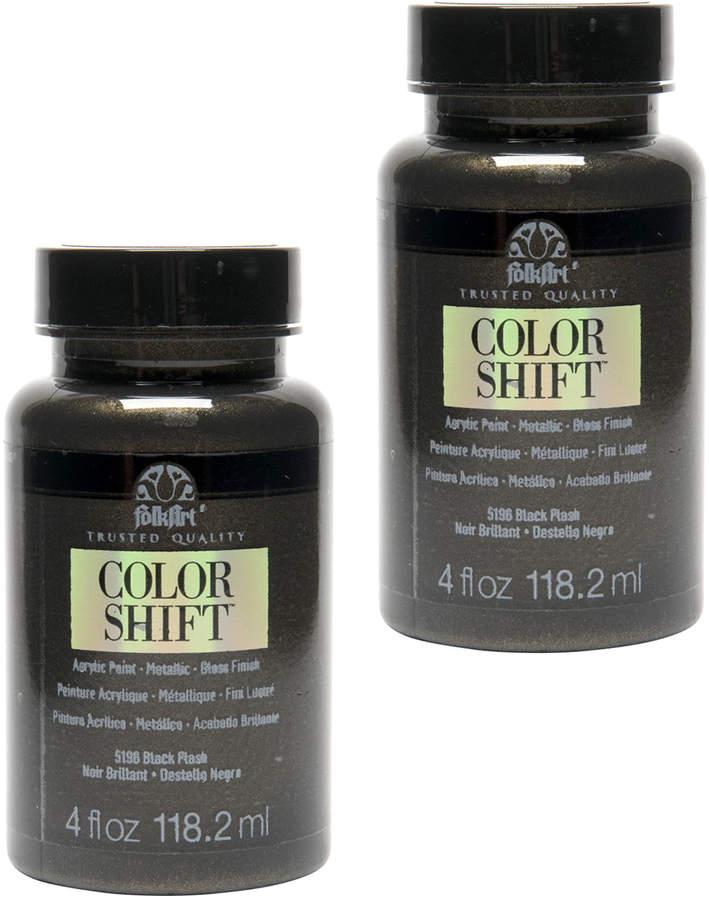 Black Flash Folk Art Color Shift Acrylic Paint - Set of Two