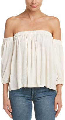 Ella Moss Off-Shoulder Crinkle Top