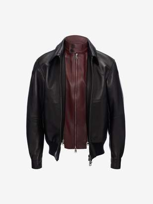 Alexander McQueen Harrington Leather Bomber Jacket