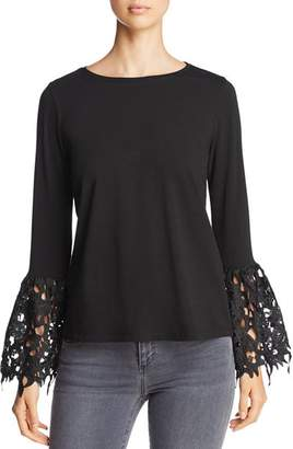 Design History Lace-Cuff Top