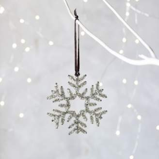 The White Company Beaded Snowflake Christmas Decoration