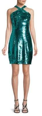 Aidan Mattox Sequin-Embellished Dress
