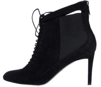 Christian Dior Suede Lace-Up Ankle Boots