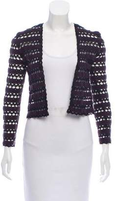 Chanel Crochet Open-Front Cardigan