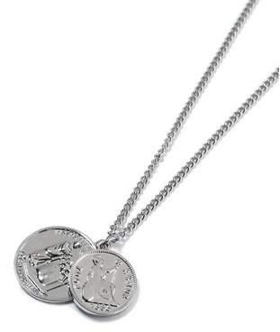 Topman Mens Silver Pendant Necklace*