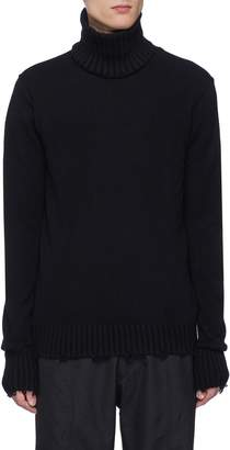 Ziggy Chen Detachable collar raw edge cashmere sweater