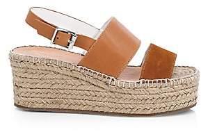 Rag & Bone Women's Edie Leather Espadrille Platform Wedge Sandals