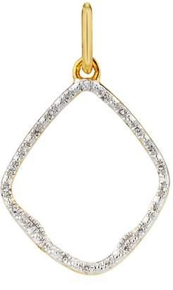 Monica Vinader Riva Diamond Hoop Pendant
