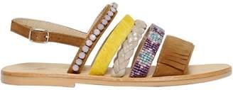 Oca-Loca Embellished Suede Sandals