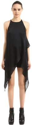 Gareth Pugh Layered Silk Satin Layered Top