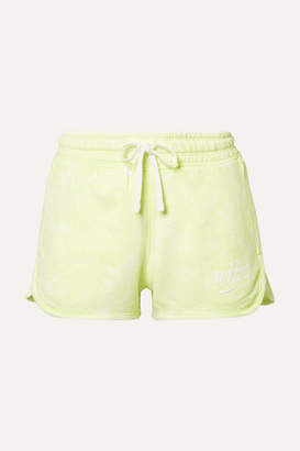 Nike Tie-dyed French Cotton-terry Shorts - Lime green