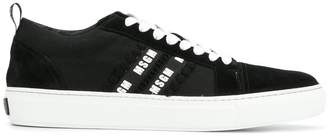 MSGM logo stripe lace-up sneakers