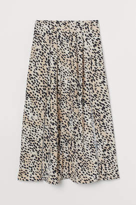 H&M Skirt with Slits - Beige
