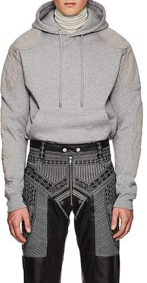 GmbH Men's Twill-Paneled Cotton Hoodie
