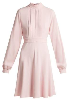 Giambattista Valli Pleated Keyhole Crepe Dress - Womens - Pink