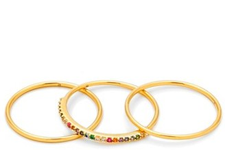 Women's Gorjana Shimmer Stackable Set Of 3 Band Rings $55 thestylecure.com