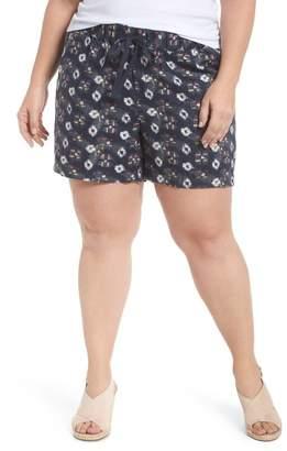 Caslon Linen Shorts (Plus Size)