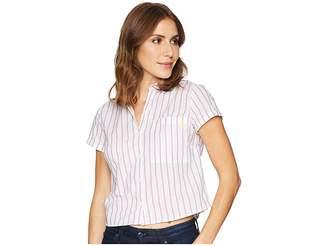 U.S. Polo Assn. Stripe Tie Back Top Women's Clothing