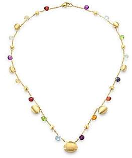 Marco Bicego Paradise Semi-Precious Multi-Stone Graduated Short Necklace