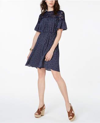 Michael Kors Pretty Paisley A-Line Dress