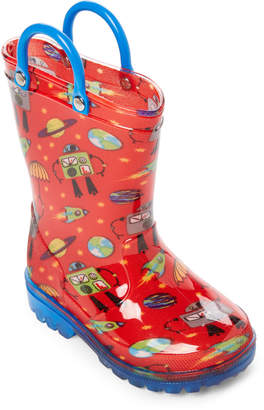 Lilly Of New York (Toddler/Kids Boys) Red Robot Light-Up Rain Boots