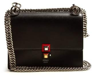 Fendi Kan I Small Leather Cross Body Bag - Womens - Black
