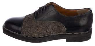 Bruno Magli Leather Cap-Toe Oxfords