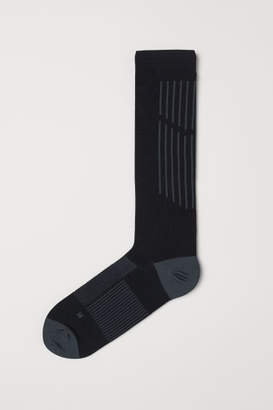 H&M Knee-high Sports Socks - Black