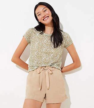 LOFT Petite Drawstring Shorts