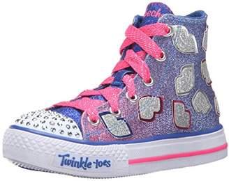 Skechers Girls' Shuffles-Lil' Smooches Sneaker