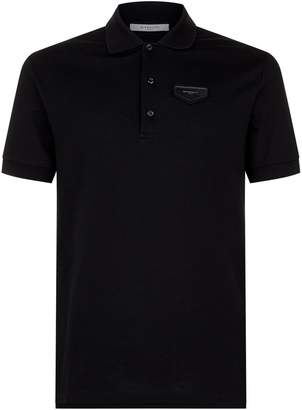 Givenchy Leather Logo Polo Shirt